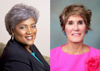 Donna Brazile and Mary Matalin